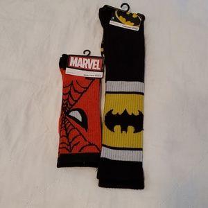 🆕️ Spiderman & Batman Socks